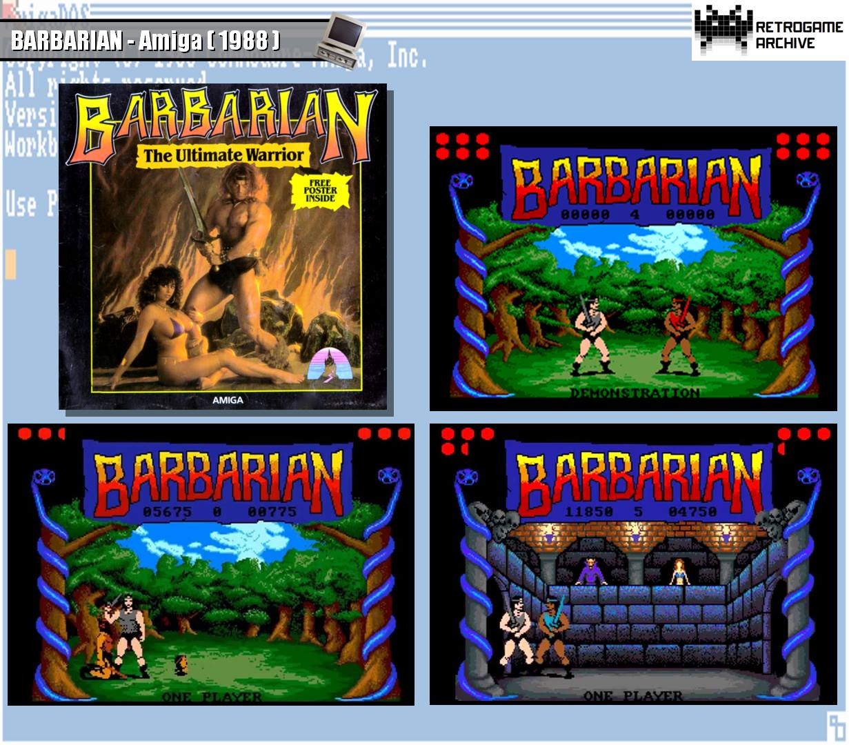 Barbarian by PALACE (Amiga)