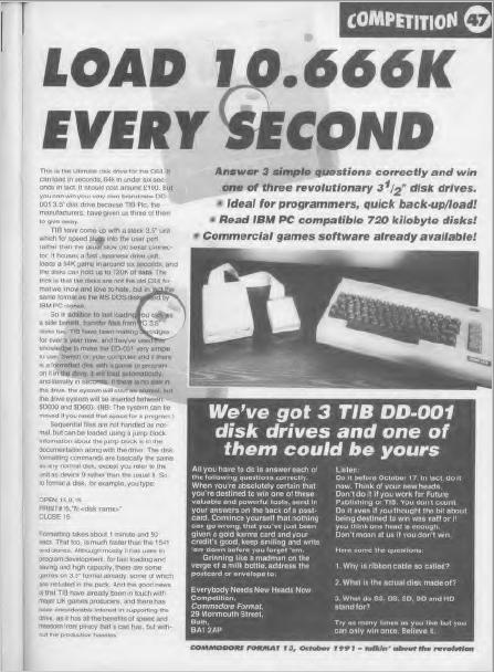 TIB PLC - Commodore Format