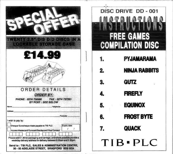 TIB PLC - Instruction free games