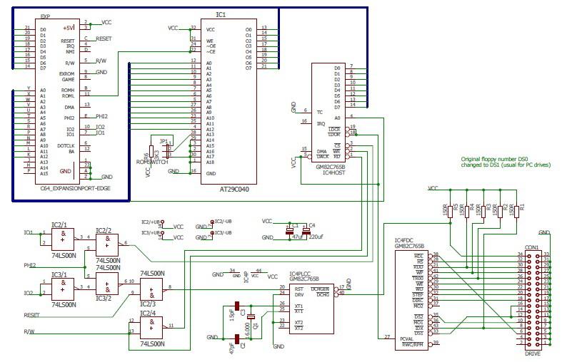 TIB PLC - Schema del circuito
